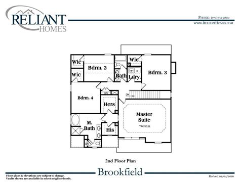 brookfield homes floor plans floor plans