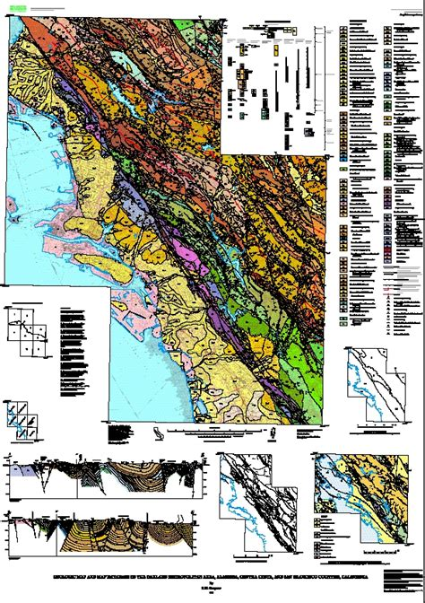 san francisco geological map geologic map and map database of the oakland metropolitan