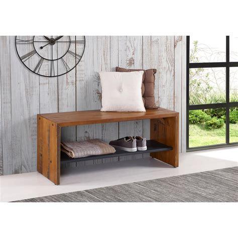 reclaimed wood entry bench walker edison furniture company 42 in amber solid reclaimed wood entry bench