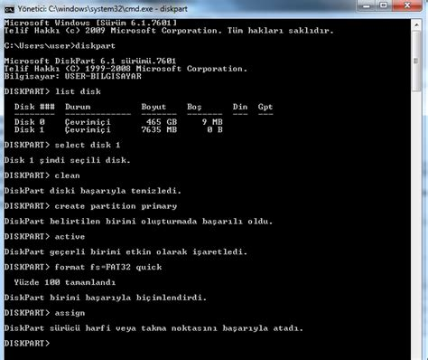 flash disk ile format atma xp usb bellek kullanarak windows 7 format atmak falan filan