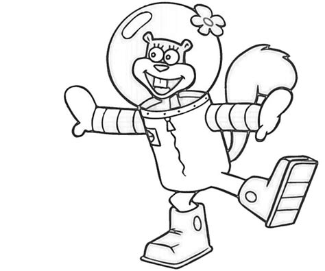 spongebob squarepants and sandy cheeks coloring home