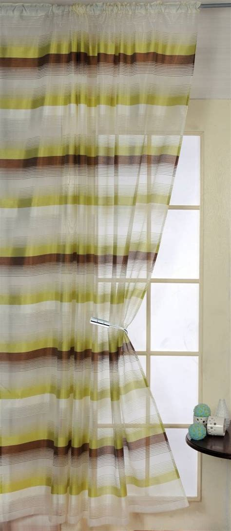 chocolate and lime curtains denver chocolate lime voile panel net curtain 2 curtains