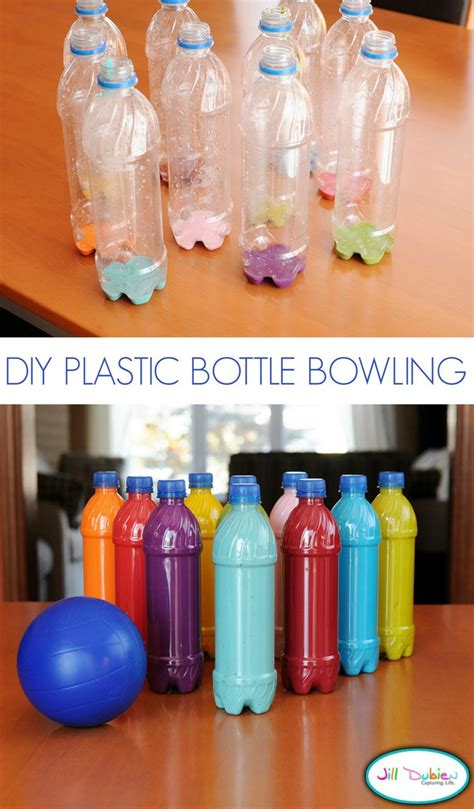 plastic bottle bowling tutorial water bottle crafts diy