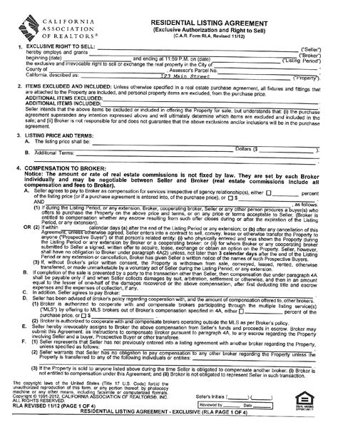 real estate commission agreement template 28 images