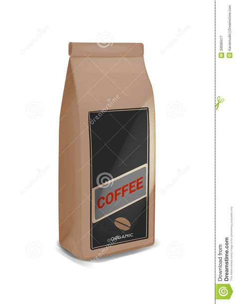 White Coffee 1 Pack coffee pack stock illustration image of sack title
