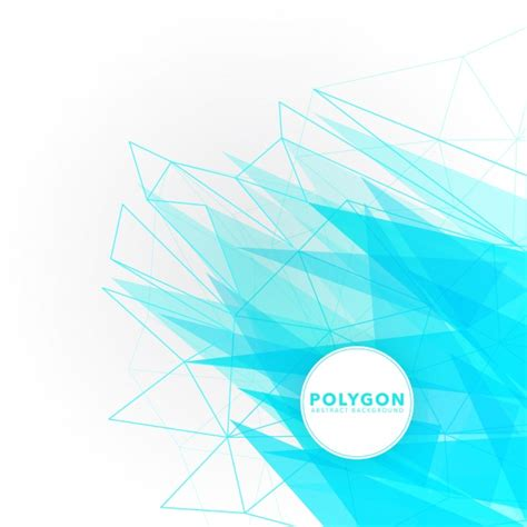 Polygon Premier 3 0 White blue and white polygon background vector free