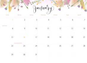 Calendar 2018 Printable Floral 90 Best Images About Calendar 2015 2018 On