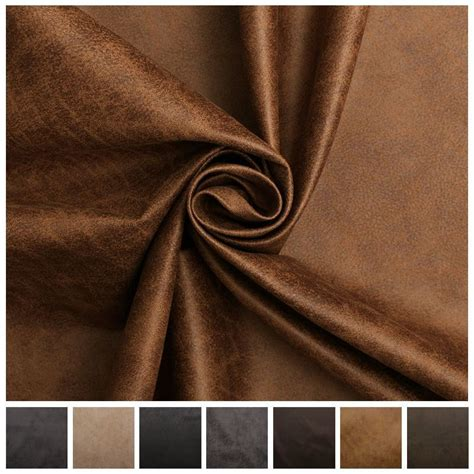 AGED BROWN DISTRESSED ANTIQUED SUEDE FAUX LEATHER ... Imitation Leather