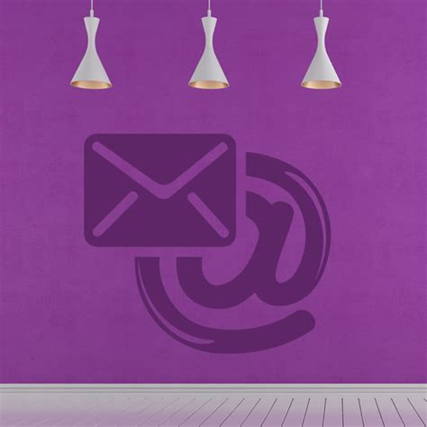 icon wall stickers email icon in the office wall stickers transfers ebay