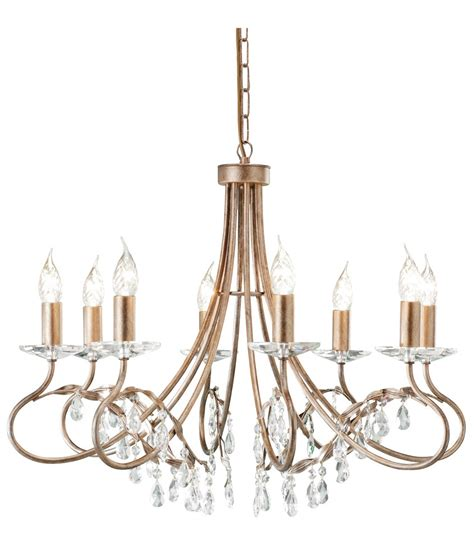 Patina Chandelier Chandlier In A Silver Gold Patina