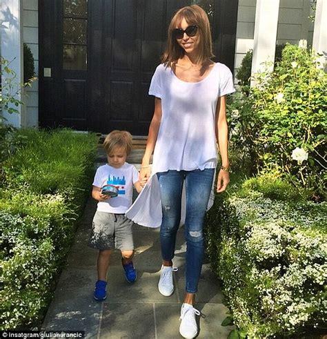 e news host giuliana skinny giuliana rancic enjoys playtime with her son but she s