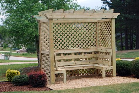 arbor with bench seat 45 garden arbor bench design ideas diy kits you can