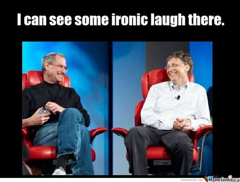 Steve Jobs And Bill Gates Meme - steve jobs vs bill gates by andy101 meme center
