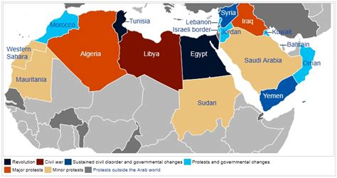middle east unrest map september 11 the story of america