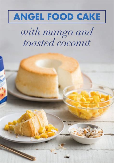 Angel Food Cake with Mango and Toasted Coconut   Recipe