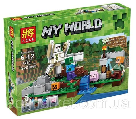 конструктор lele серия my world 79280 железный голем аналог lego майнкрафт minecraft 21123