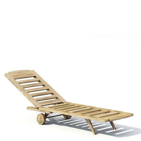 reclining beach chairs reclining beach chair 3d model cgtrader com
