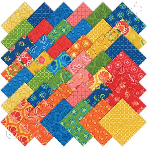 Quilting Fabric Charm Packs by Moda Fancy Charm Pack Emerald City Fabrics