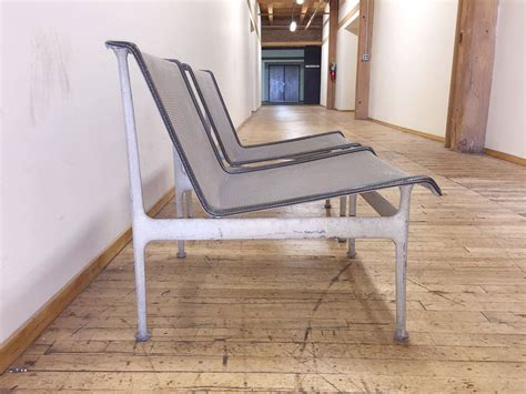 original vintage richard schultz pair of low lounge chairs