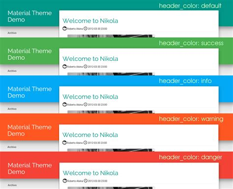 bootstrap themes material design material theme themes for nikola