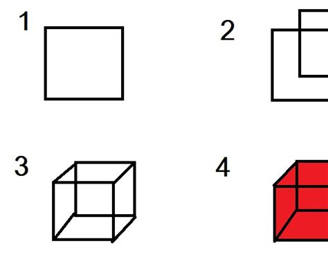 How To Make A 3d Cube On Paper - how to make coloured 3d cube in microsoft paint paint and