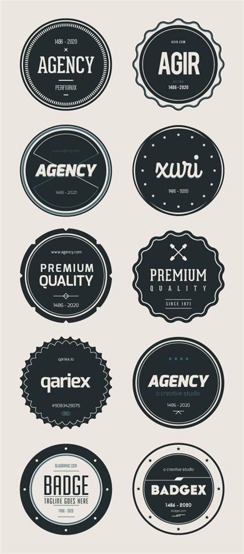 retro logo template psd psd badges vintage retro style design graphic