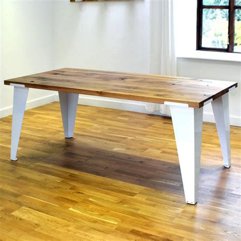 Reclaimed Oak Dining Tables Reclaimed Oak Dining Room Table By Jam Furniture Notonthehighstreet