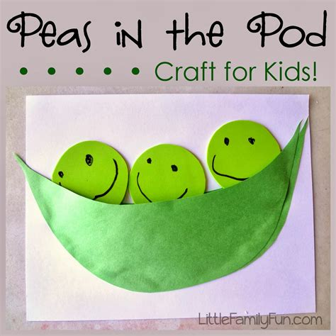 green craft family pea pod craft