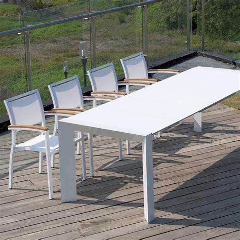 tavolo da esterno allungabile tavolo allungabile da giardino con piano in vetro