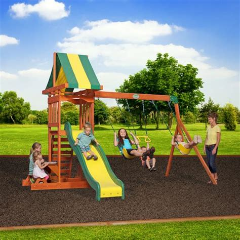 swing academy backyard discovery prestige wooden swing set academy