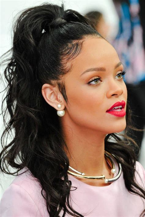 rihanna hairstyles half up half down most beautiful prom hairstyles for long hair