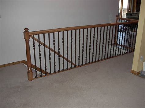rod iron banister maple wrought iron rail