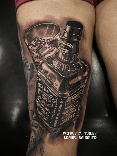 daniel tattoo black and grey daniel s whiskey bottle on the