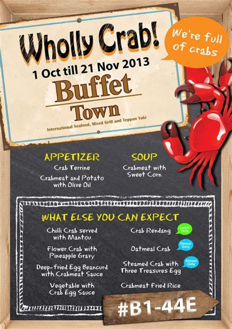 buffet town wholly crab promotion for crab meat lovers