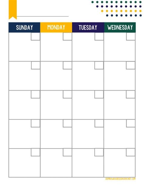 printable calendar no dates free printable blogger planner calendar monthly