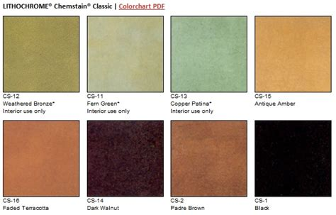 classic colors scofield s lithochrome chemstain classic color chart of