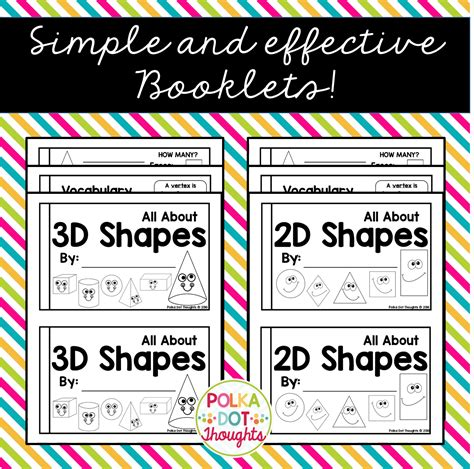 learn 2d and 3d polka dot thoughts let s learn about 2d and 3d shapes