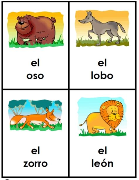 free printable spanish flashcards for toddlers free spanish animal friends cards printable spanish