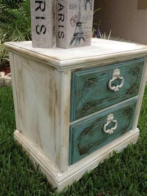 chalk paint shabby chic shabby chic chalk paint nightstand end table
