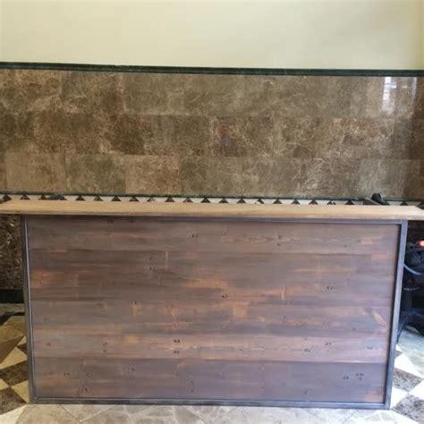 custom reception desk rustic look by j l klein creations