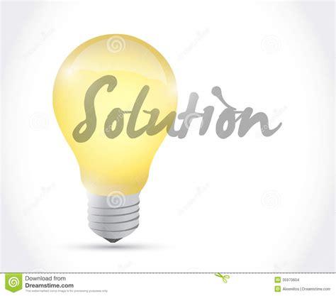 design is solution solution light bulb illustration design stock illustration