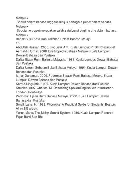 penulisan daftar pustaka tiga suku kata suku kata