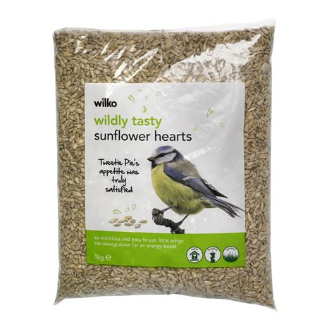 wilko wild bird sunflower hearts 1kg at wilko com
