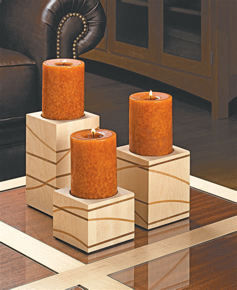 candle holders woodworking project woodsmith plans