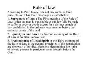 Dicey Rule Of Essay rule of