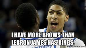 Anthony Davis Meme - anthony davis unibrow