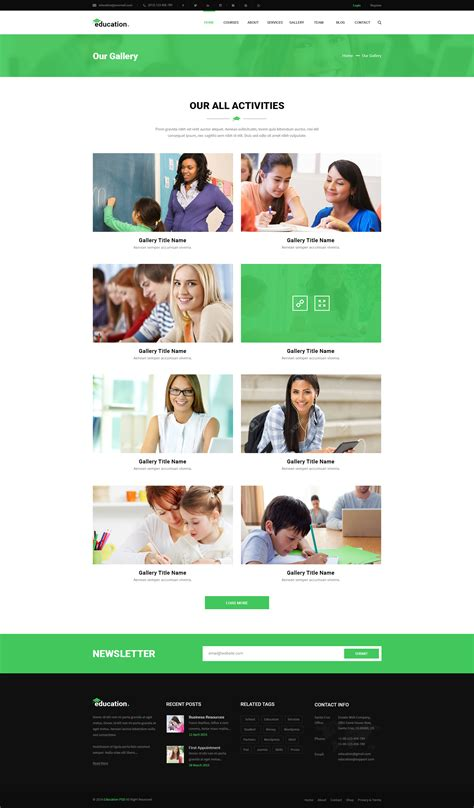 bootstrap templates for learning education learning bootstrap psd template psd templates