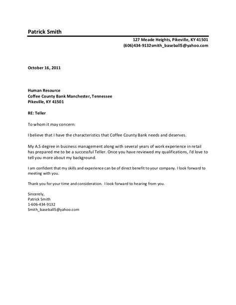 Sending a cover letter to whom it may concern   Auto Loan