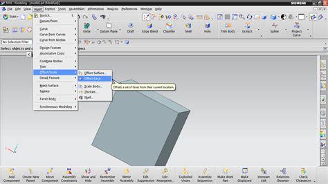 video tutorial unigraphics nx unigraphics tutorial offset face
