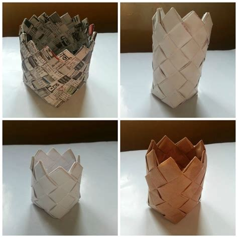 Paper Craft Materials - diy paper basket 183 how to make a paper bowl 183 papercraft